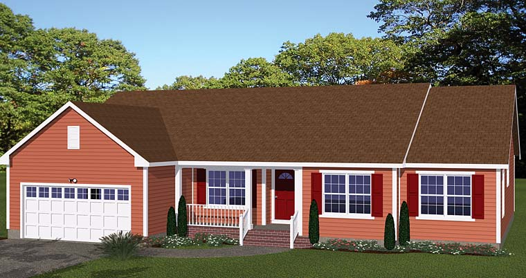 Ranch House Plan 40616 Elevation