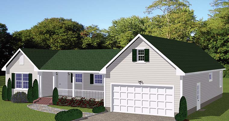 Country Ranch House Plan 40621 Elevation