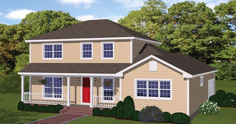 Colonial Traditional House Plan 40625 Elevation
