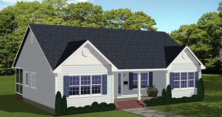 Ranch Traditional House Plan 40628 Elevation
