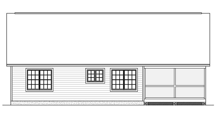 Ranch Traditional House Plan 40628 Rear Elevation