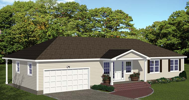 Ranch House Plan 40632 Elevation