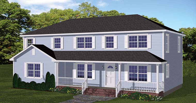 Colonial Southern Traditional House Plan 40634 Elevation
