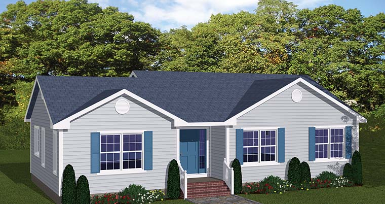 Traditional House Plan 40645 Elevation