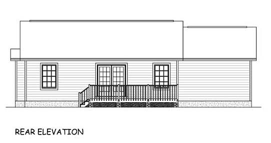 Traditional House Plan 40645 Rear Elevation