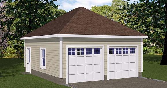 2 Car Garage Plan 40655 Elevation