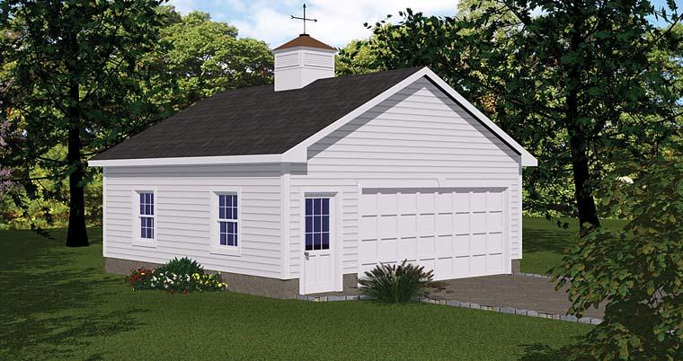 1 Car Garage Plan 40657 Elevation