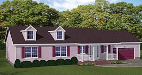 Ranch , Traditional House Plan 40665 with 3 Beds, 3 Baths, 2 Car Garage Elevation