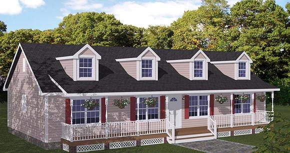 Country, Ranch, Southern House Plan 40666 with 3 Beds, 2 Baths Elevation