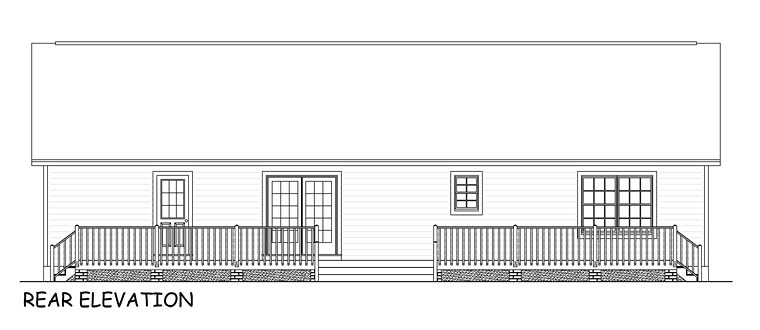 Country Ranch Southern House Plan 40666 Rear Elevation