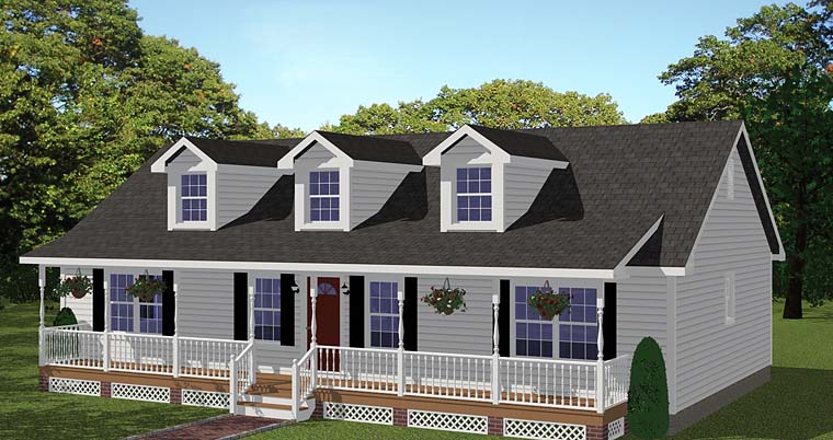Country, Ranch, Southern House Plan 40683 with 3 Beds, 2 Baths Elevation