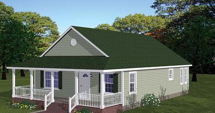 Country Ranch Southern Traditional Elevation of Plan 40688