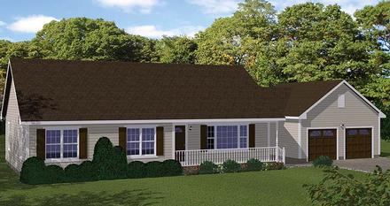 Country Ranch Traditional Elevation of Plan 40689