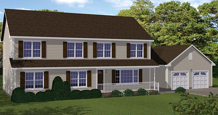Colonial Country Southern House Plan 40690 Elevation