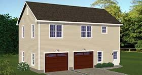 Garage-Living Plan 40694