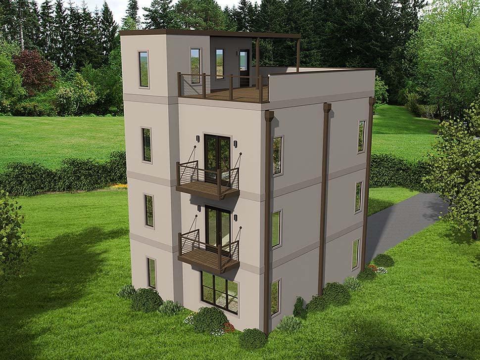 House Plan 40800 Modern Style With 1588 Sq Ft 2 Bed 1 Bath 1 3 4 Bath 1 Half Bath