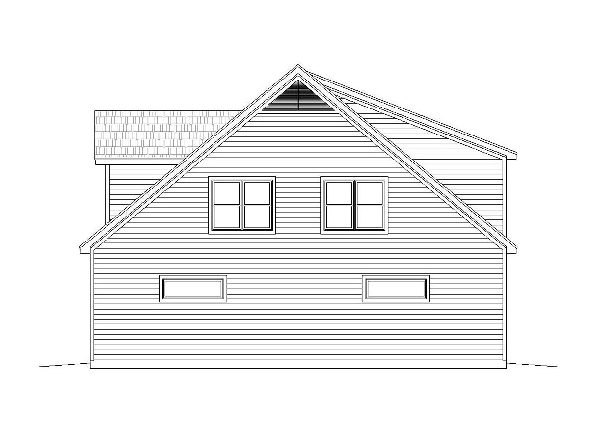Country, Traditional 5 Car Garage Apartment Plan 40801 with 2 Beds, 3 Baths Picture 1