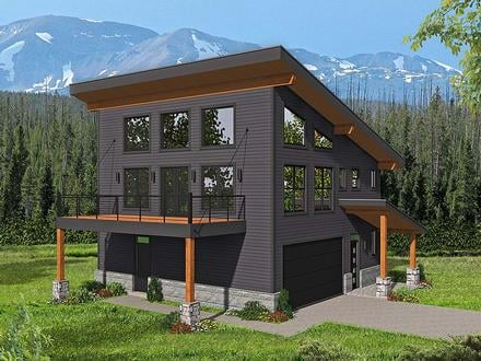Garage-Living Plan 40816