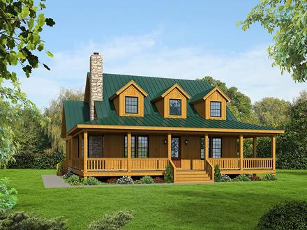 Country Farmhouse Traditional Elevation of Plan 40822