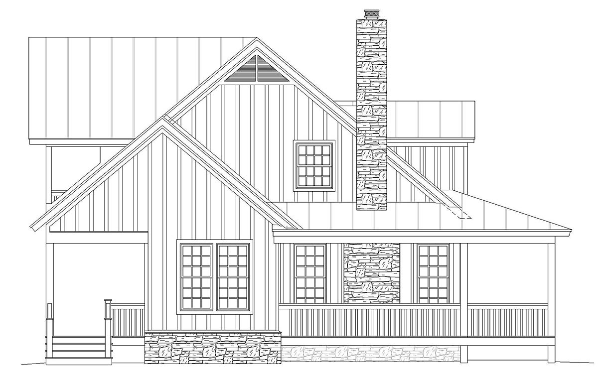 Country, Farmhouse, Traditional House Plan 40822 with 3 Beds, 4 Baths Picture 2