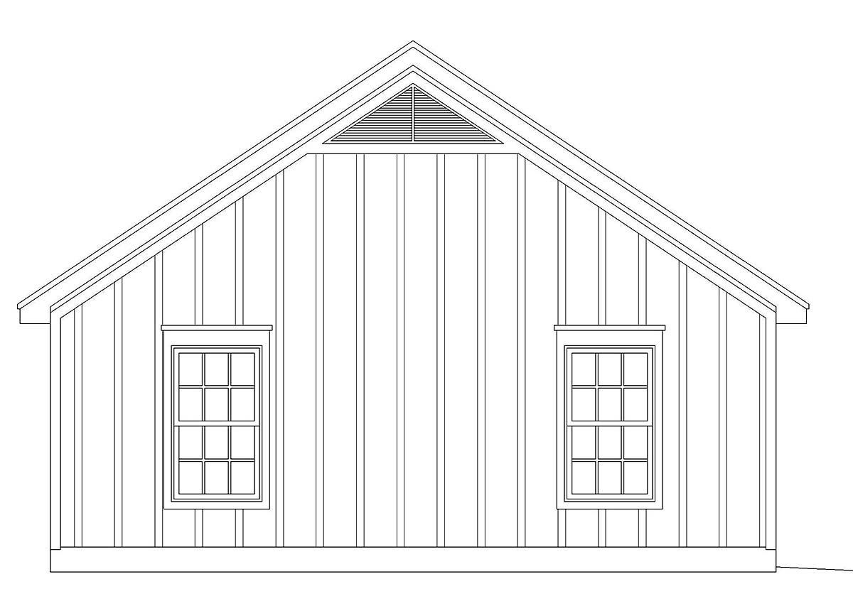 Cape Cod, Country, Ranch, Saltbox, Traditional 2 Car Garage Plan 40831 Picture 2