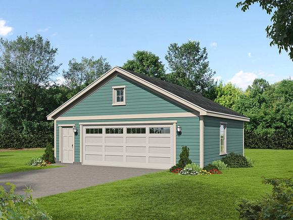 Cottage, Country, Ranch, Traditional 2 Car Garage Plan 40832 Elevation