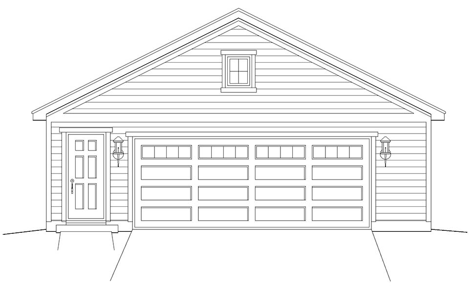 Cottage, Country, Ranch, Traditional 2 Car Garage Plan 40832 Picture 3