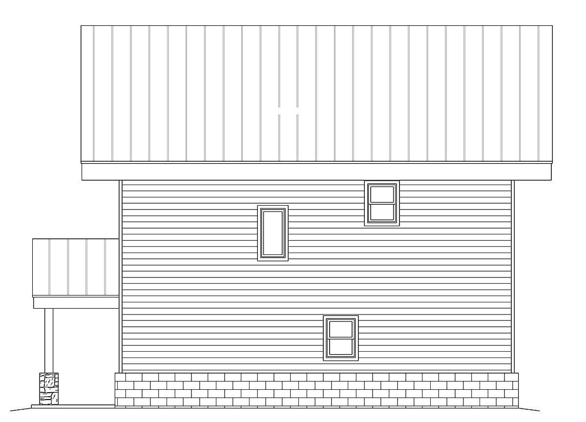 Contemporary Modern Rear Elevation of Plan 40838