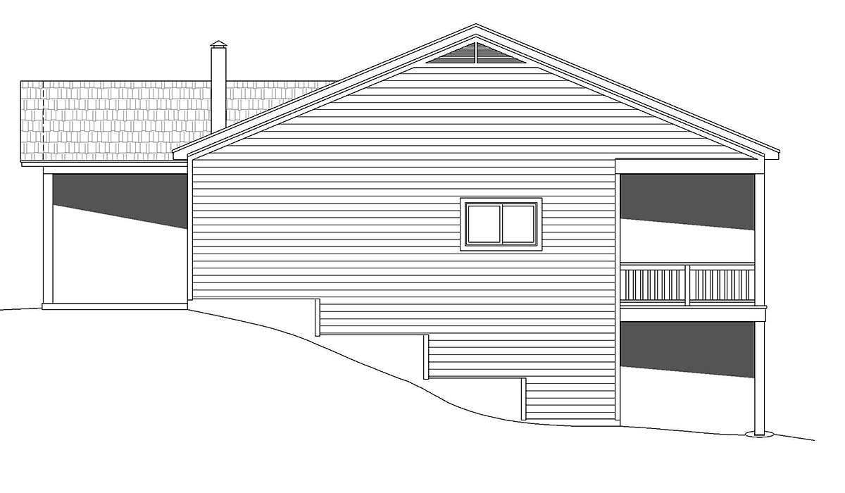 Bungalow, Cabin, Cottage House Plan 40848 with 2 Beds, 2 Baths Picture 1