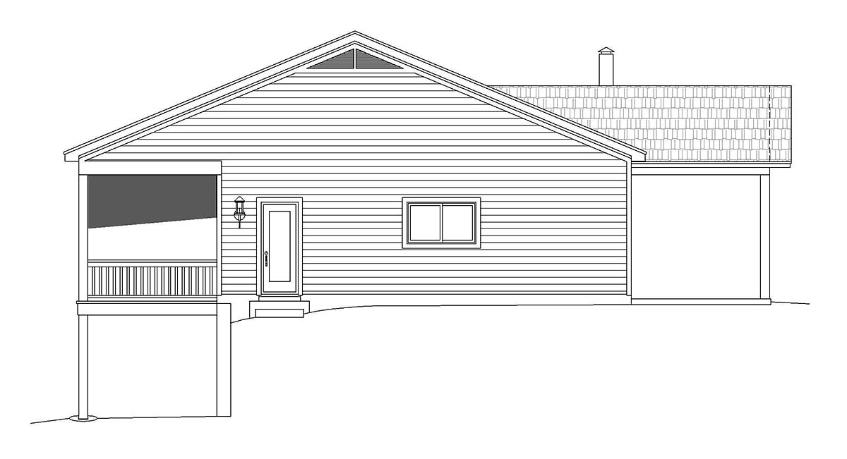 Bungalow, Cabin, Cottage House Plan 40848 with 2 Beds, 2 Baths Picture 2
