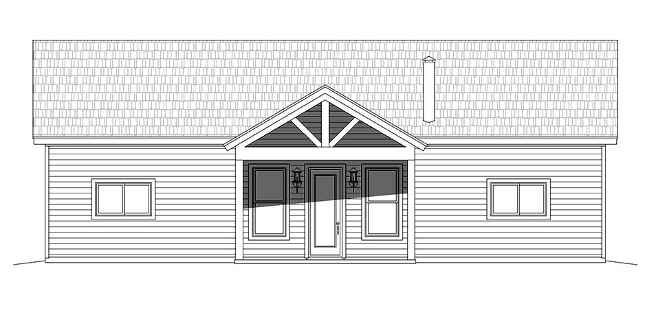 Bungalow, Cabin, Cottage House Plan 40848 with 2 Beds, 2 Baths Picture 3