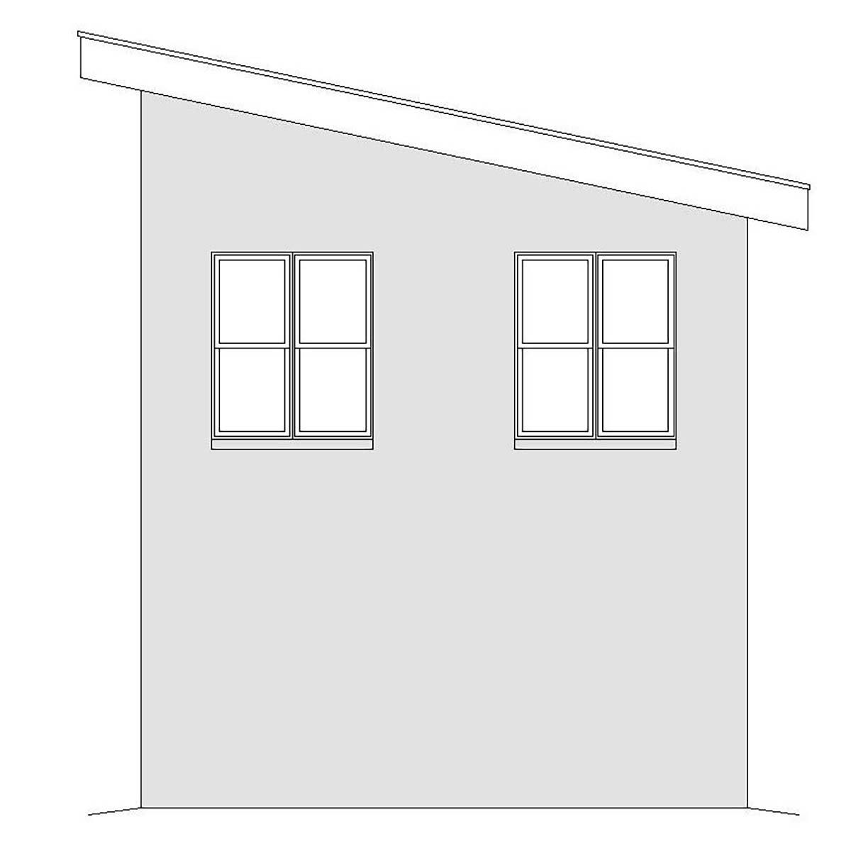 Contemporary, Modern 2 Car Garage Plan 40867 Picture 1