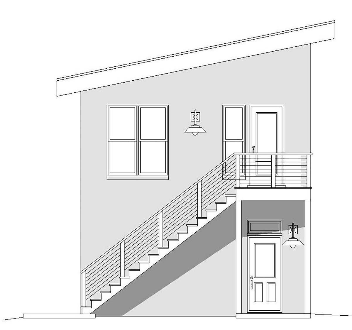 Contemporary, Modern 2 Car Garage Plan 40867 Picture 2
