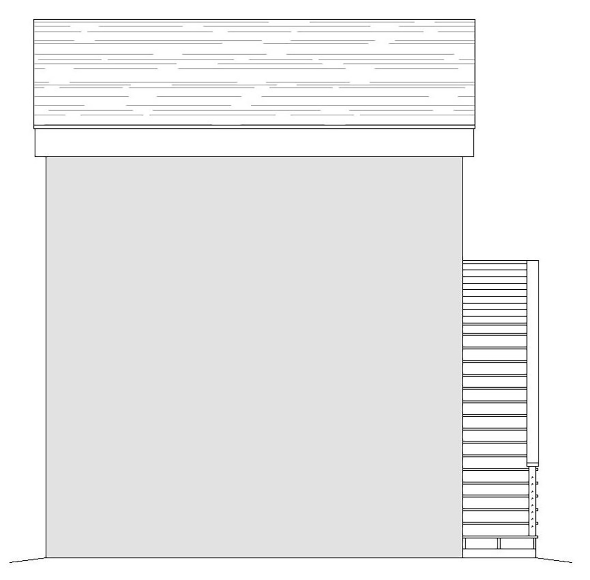 Contemporary Modern Rear Elevation of Plan 40867