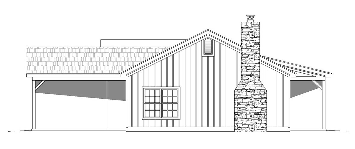 Country, Ranch, Traditional House Plan 40868 with 3 Beds, 2 Baths Picture 2