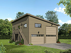Garage-Living Plan 40869