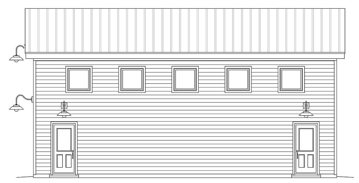 Contemporary, Modern Garage-Living Plan 40869, 2 Car Garage Picture 1
