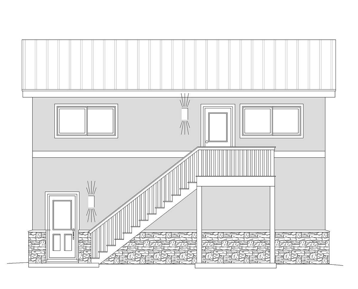 Contemporary, Modern 2 Car Garage Plan 40870, RV Storage Picture 1