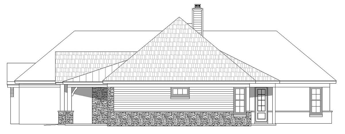 European, French Country, Ranch House Plan 40871 with 3 Beds, 3 Baths, 3 Car Garage Picture 1