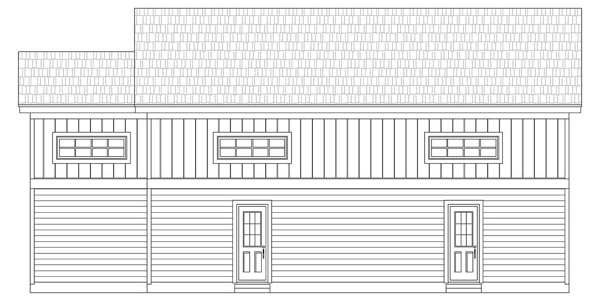 Craftsman, Traditional 2 Car Garage Plan 40873, RV Storage Picture 1