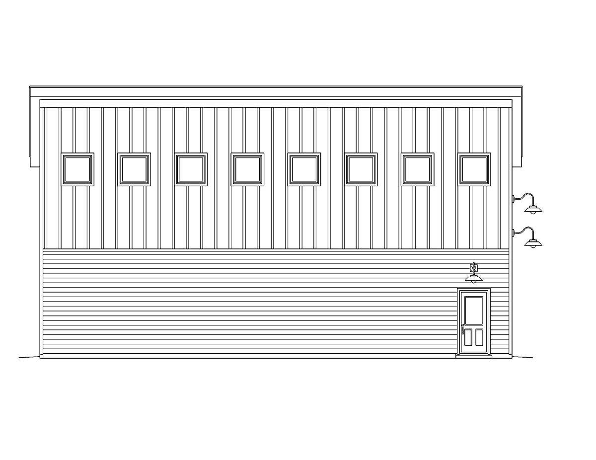Contemporary, Modern 2 Car Garage Plan 40874 Picture 2