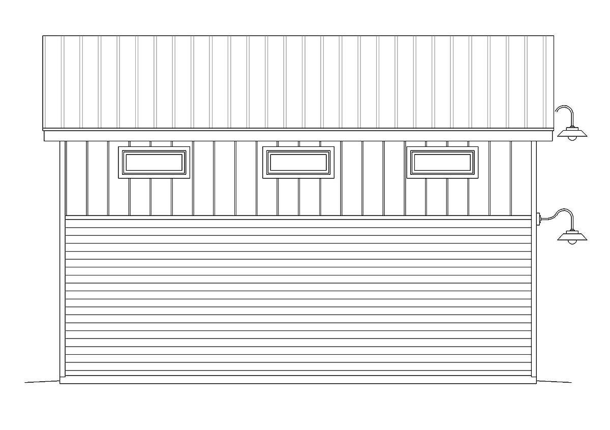 Contemporary, Modern 2 Car Garage Plan 40878, RV Storage Picture 1