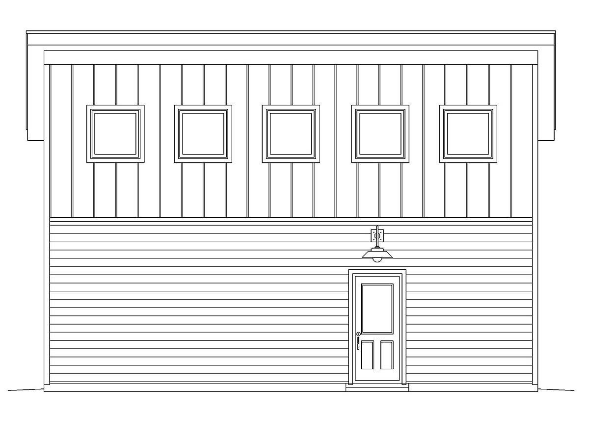 Contemporary, Modern 2 Car Garage Plan 40878, RV Storage Picture 2