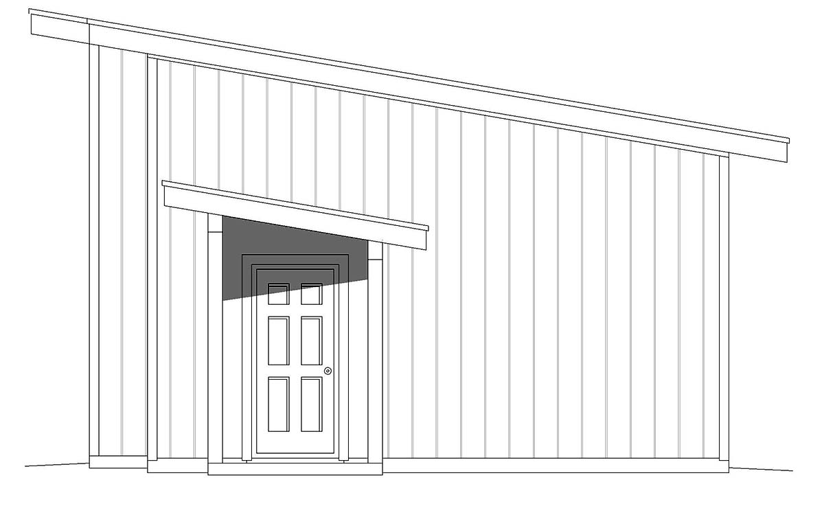 Contemporary, Modern 2 Car Garage Plan 40880 Picture 1