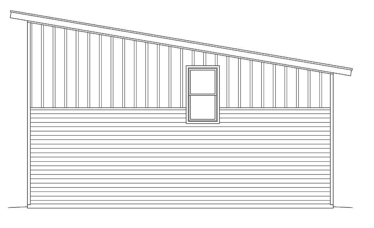 Contemporary, Modern 3 Car Garage Plan 40881, RV Storage Picture 1