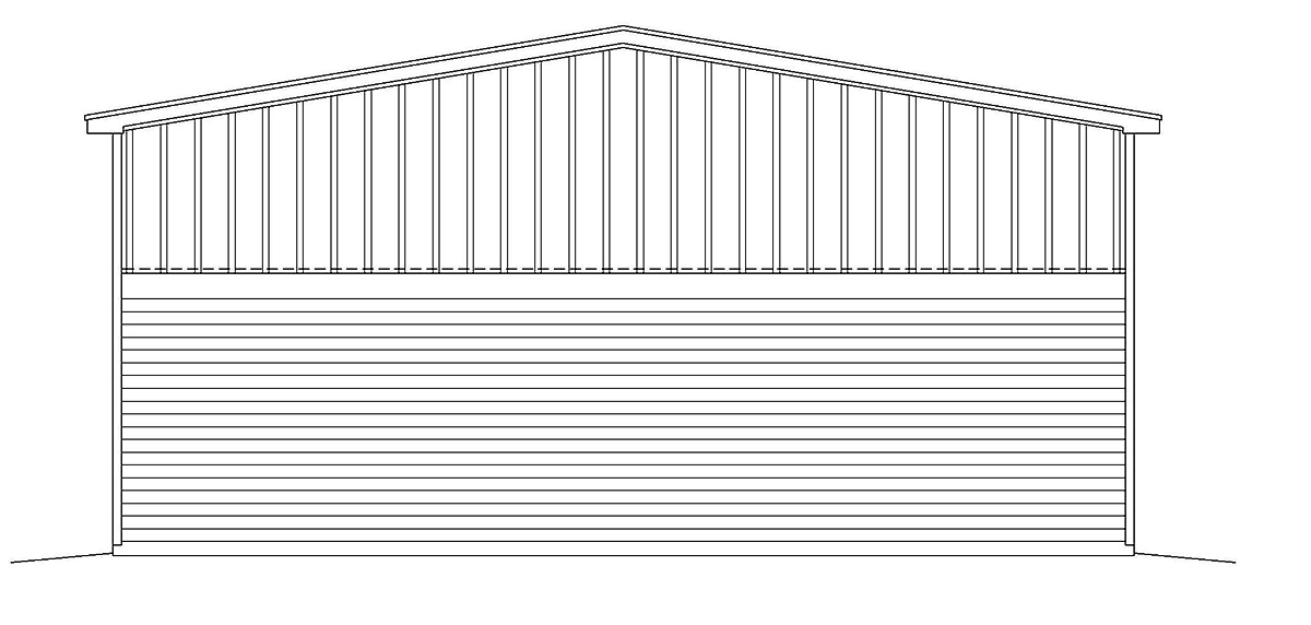 Country Farmhouse Traditional Rear Elevation of Plan 40882