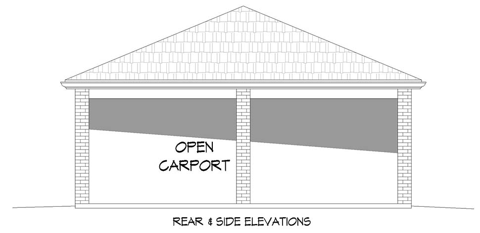 2 Car Garage Plan 40883 Picture 2