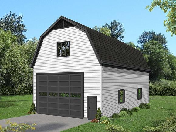 Cottage, Country 4 Car Garage Plan 40885 Elevation