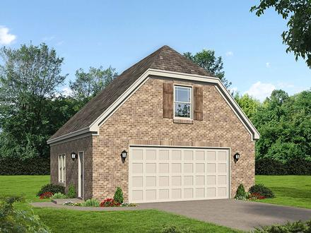 Country French Country Traditional Elevation of Plan 40886