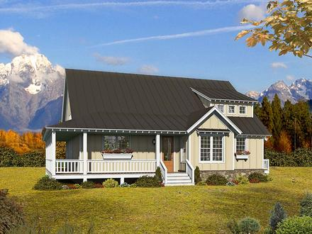 Cottage Country Farmhouse Elevation of Plan 40893